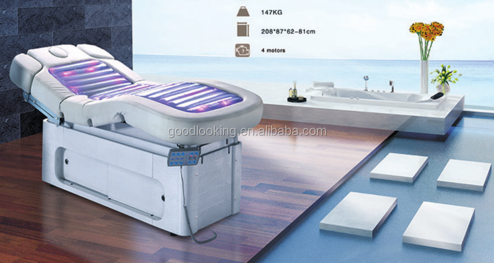 best selling electric water massage ligting beauty bed with factory price