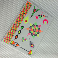 Neon Body Skin Tattoo Sticker Glow in the dark tattoo