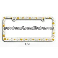 Car Decorative License Plate Frames Can Be Custom