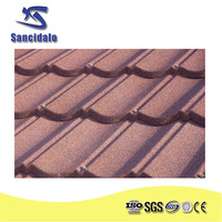 Sancidalo purple color stone chip coated metal resin roof tile