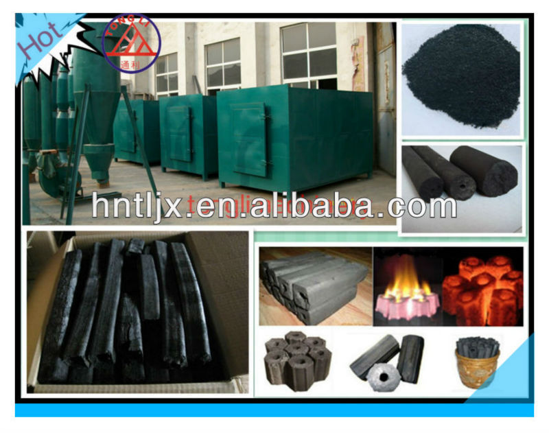 good quality machine used for charcoal briquetting--Tongli charcoal carbonization furnace made in Henan