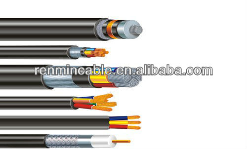 PVC insulation copper wire braided shield control cable