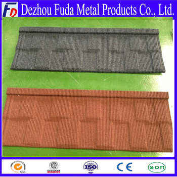Colorful stone sand coated metal roofing tile