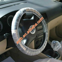 professional disposable logo printed pe steering wheel cover