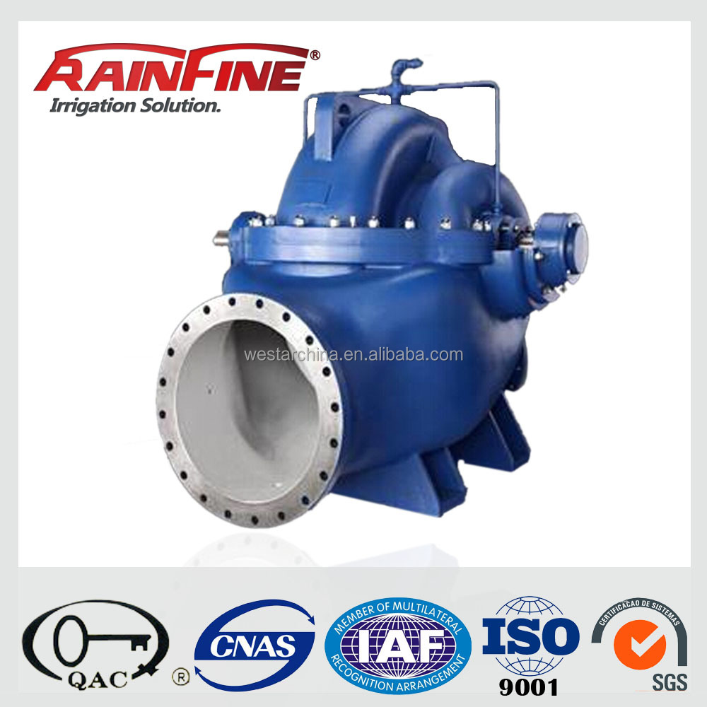 2015 New Single Stage Double Suction Axially Split Casing Centrifugal Water Pumps for Irrigation