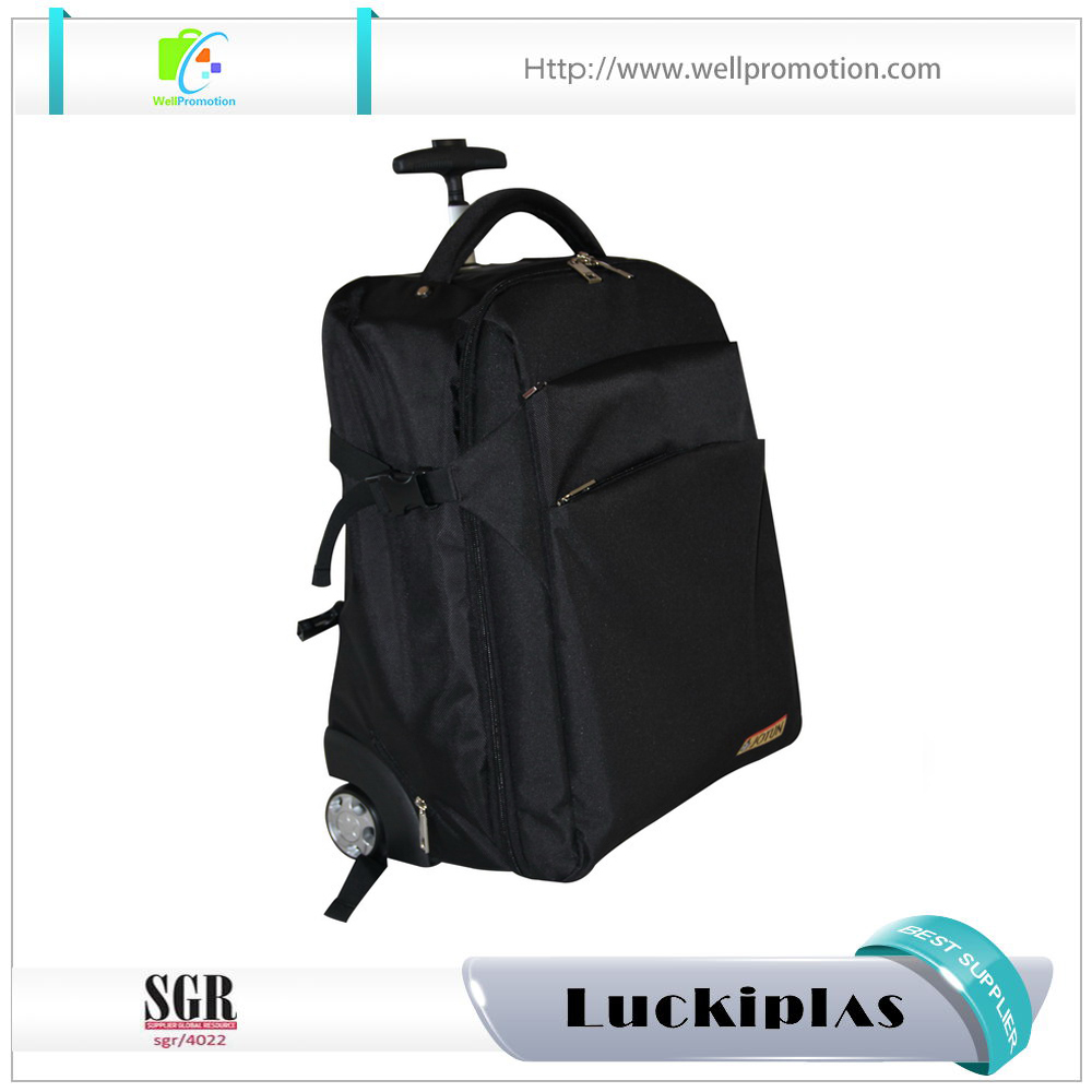 Trolley rolling computer laptop backpack bag with custom logo
