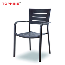 TOPHINE Furniture Contemporary Outdoor Cheap Modern Simple Design Metal Dining Chair