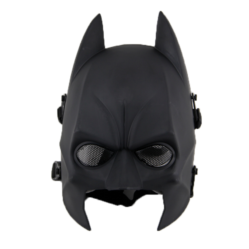Batman tactical full face mask with metal mesh eye
