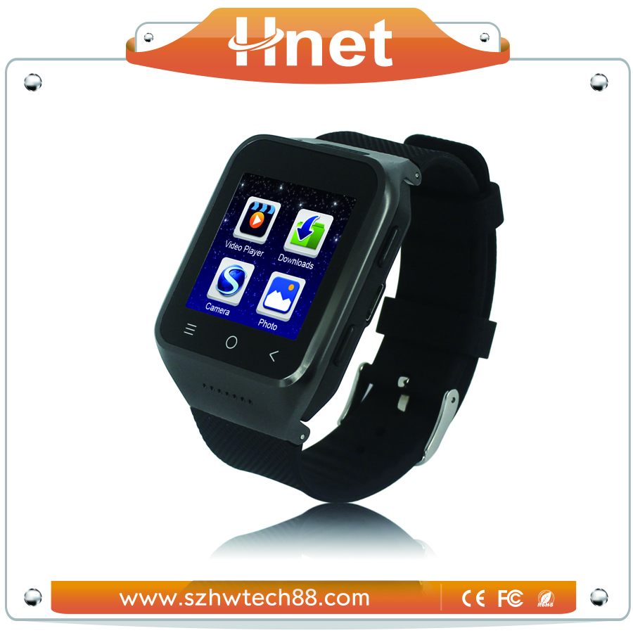 Android Bluetooth Smart Watch 2014 with GPS Leather Strap Metal Steel Watch