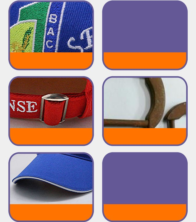high quality blank Embroidery sports visor caps