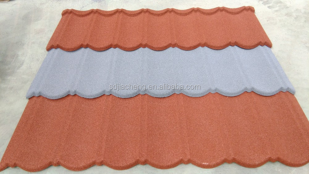 Jiacheng 50 years life span Stone coated metal roof tile/special roofing nails/tile sale