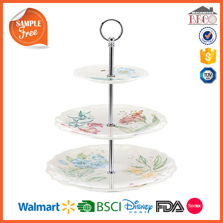 Wholesale New Design Plastic Melamine 3 Tier Candy Dish