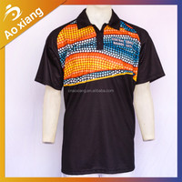 Wholesale dry fit zipper man golf shirt double mercerized cotton golf t shirt fabric