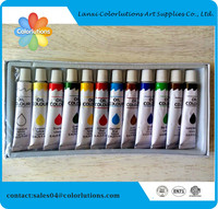 2015 colorlutions non toxic easy wash paint use water color paint tube color your life