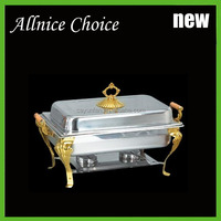 Rectangle buffet container/hotel buffet equipment/stainless steel buffet stove