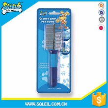 Popular Products Pet Dog Grooming Stainless Steel Brush Soft Grip Pet Comb