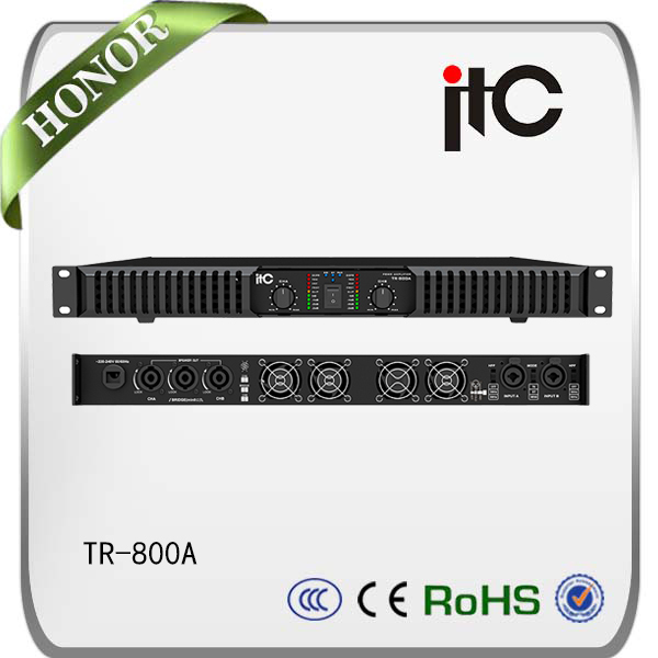 TR Series 800W to 3200W 2 Channel 1U Professional Power Amplifier
