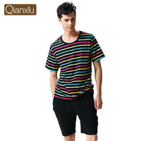 Qianxiu factory cotton adult sexy men nightwear