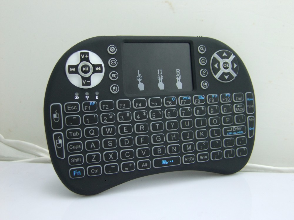 Mini i8 Pro air mouse backlit designed for Android system Keyboard Air Fly Mouse Plug and Play Wireless Gaming