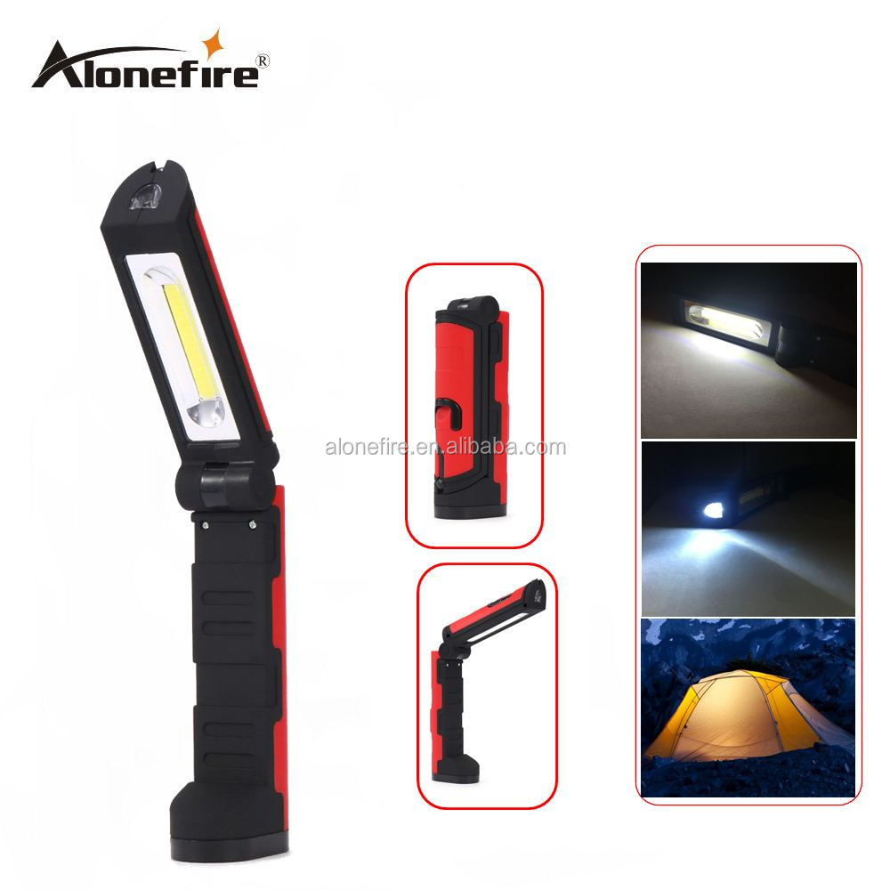 AloneFire <strong>C026</strong> COB LED Flashlight Camping Work Light with 90 Degree COB Outdoor Camping Light Magnetic Hanging Hook Lamp