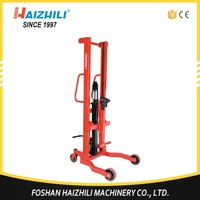 China alibaba hydraulic 350kg forklift manual oil drum lifter