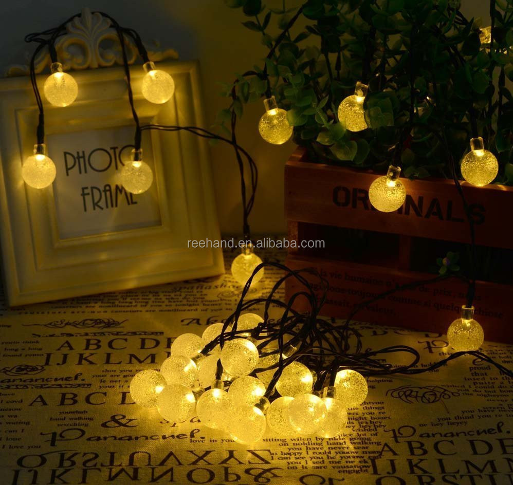 Waterproof 30led solar power string lights outdoor Xmas party light cool white warm white