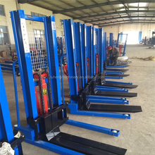 Whatsapp: +8613625377838 360kg/250kg Manual Hydraulic Pallet Drum Lifting Stacker