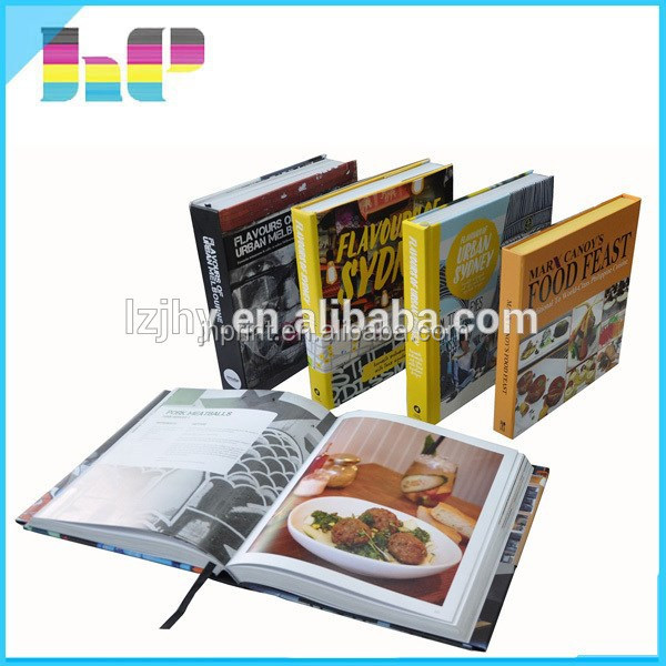 customized design hardcover cook books photo books printing
