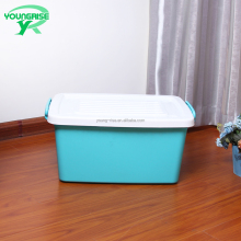 clothes use clear waterproof plastic storage box for transport with handle lock