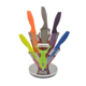 High quality new kitchen products stainless steel 5 pcs color non-stick coating knife set