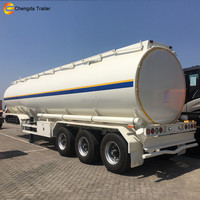 2018 liquid food tanker trailer CIMC 3 axles carbon steel Crude oil tanker trailer with pump