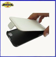 Hot Sell!!!for Apple iphone 4 4S Genuine Slim Leather Flip Pouch Cover Case