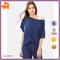 2017 Blouse Women Summer Tops Double Layer Sleeves Western Blouse Latest Tops Designs Girls