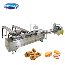 2018 Discount Price Ice Cream Biscuit Sandwich Machine with Packing Line