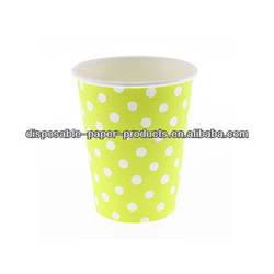 Polkadot Spots Spotty Stylish Party Tableware Polka Dot paper drinking cups Lime Green Girls BOYs Kids BIRTHDAY PARTY SUPPLIES