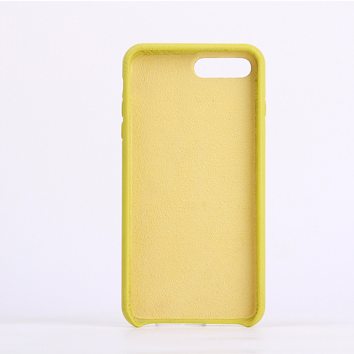 Luxury Genuine Lambskin Phone Case Luxury Phone Case Yellow Leather Mobile Phone Case