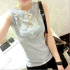 d73284h 2016 summer fashion women vest blouses wholesale women clothing tops sexy lace tops for women