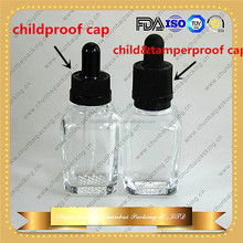 e liquid glass dropper bottle 15ml 30ml square glass bottle with childproof cap