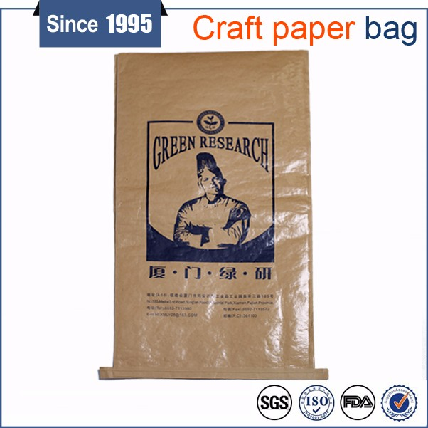 Best price kraft paper bags, customized bag size, virgin material poly woven bags agriculture85*55