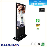 Ultra slim Android Network 55 inch LCD 3g/wifi/network display player