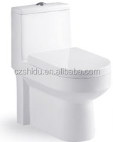 CUPC Square Toilet Bowl Shape and One Piece Structure Siphonic one piece water closet