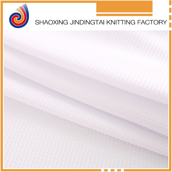 Wholesale polyester spandex Pure White Seersucker Fabric