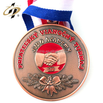 Best selling products high quality customized 3d logo judo sports metal medal for wholesale