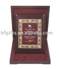 Wood MDF plaque with box:BFWA0928