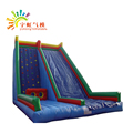 PVC tarpulin inflatable slide with climbing for kids and adults
