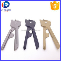 Wholesale New Pocket Stainless steel Knife Folding Knife 6 In 1 Utili-Key Mini Multitool Keychain