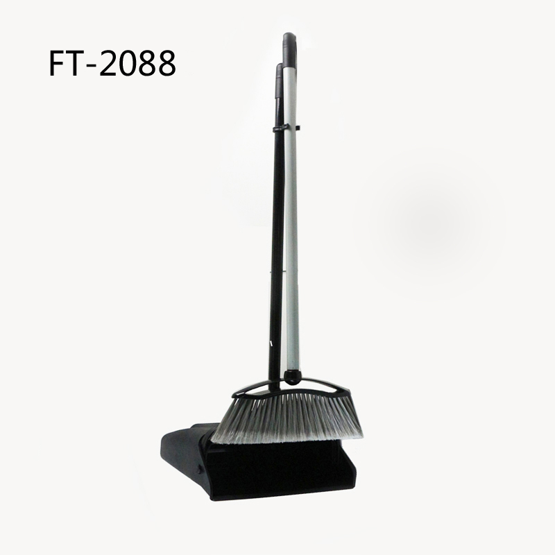 broom & dustpan Long handle lobby cleaning broom and dustpan sets