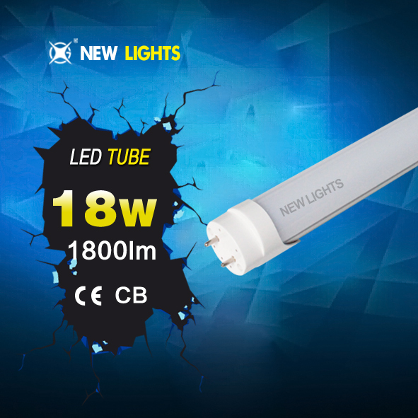Fashionable t8 led tube 100lm/w 3 years warranty smd 2835 IC driver 85-265v/ac 1200mm t8 led tube housing