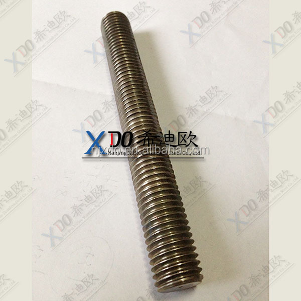 2205 2507 S32750 1.4410 high quality hardware stainless steel nuts and bolts double head threaded rod