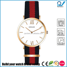 Nylon strap surgical grade stainless steel vibrant timepiece custom made Quartz Watches Japan Movt